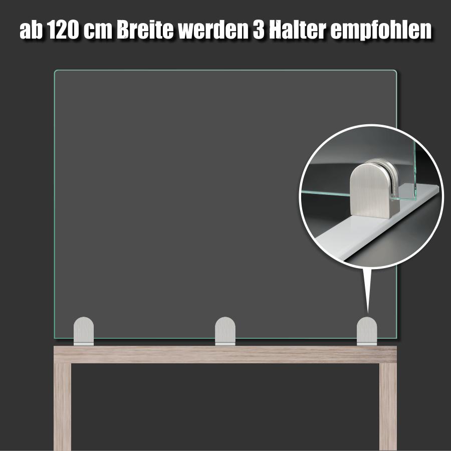 Tischaufsteller Befestigung Fuß Spuckschutz Plexiglas Glas PS: 3-10,76mm Schreibtisch Gastronomie