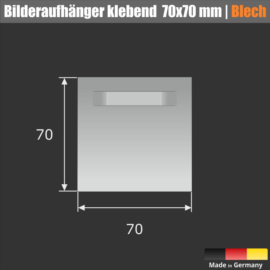 Bilderaufhänger bis 3 kg Abstandhalter weiß | selbstklebend 70x70 mm