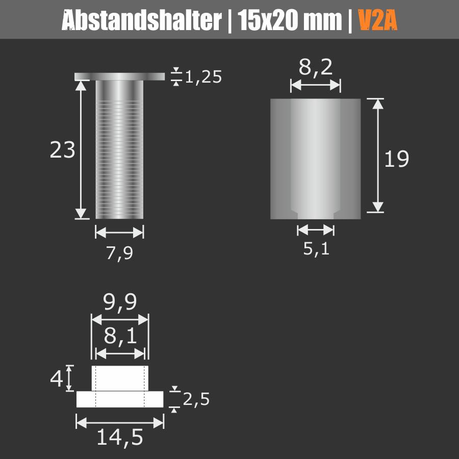 Glashalter + Schutzhülse