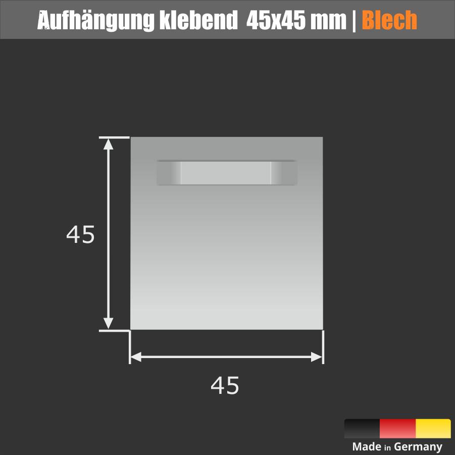 Bildhalterung 45x45mm klebend Spiegel Schilder+Puffer weiß 1 kg