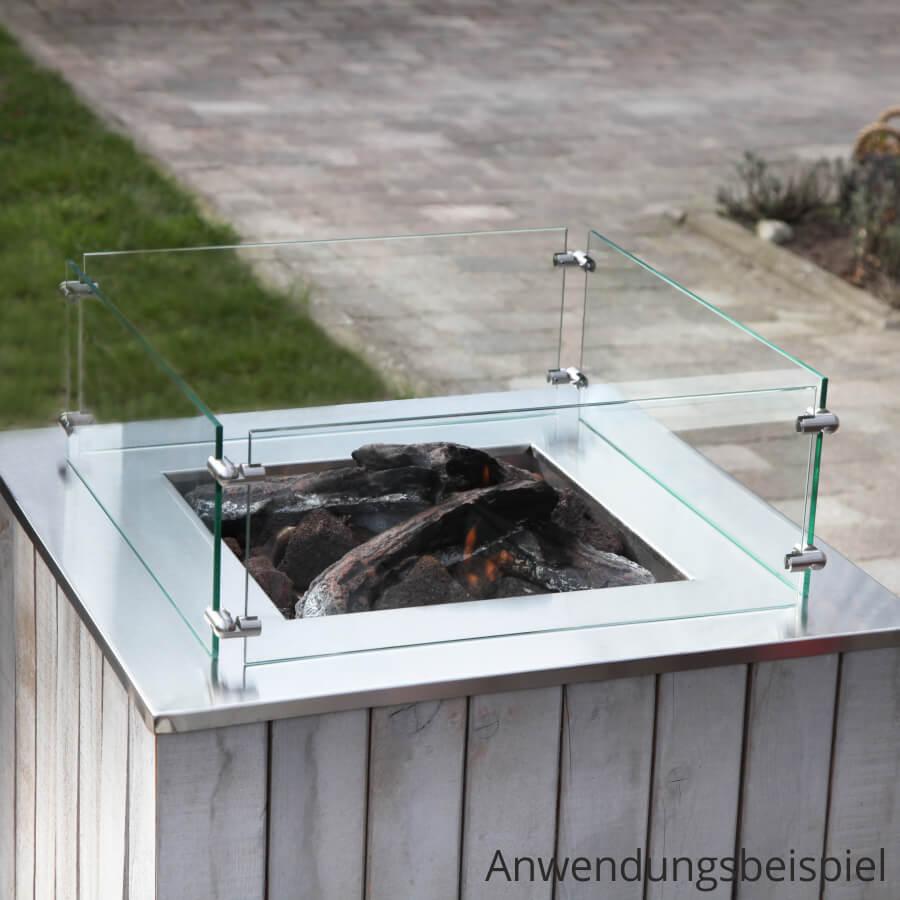 Feuerstelle Eckverbinder 90° Edelstahl Platten PS: 2-10 mm