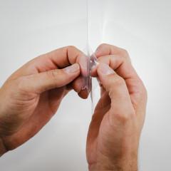 Schutzvisier Folie entfernen