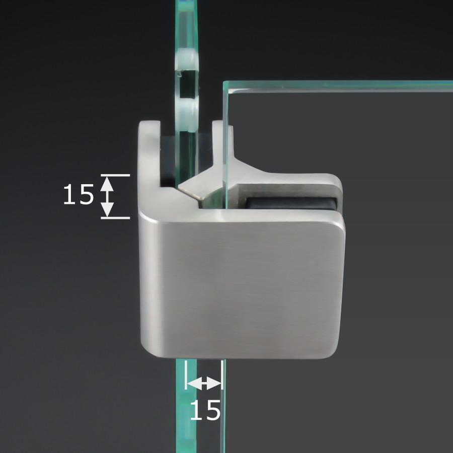 Glasklemme Eckhalter 90° V4A Geländer Balkon Glas VSG ESG 53x45mm PS: 6-10,76 mm