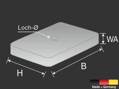 Abstandsklötze 60x40x5mm Spiegelmontage Distanzstück Kunststoff | grün