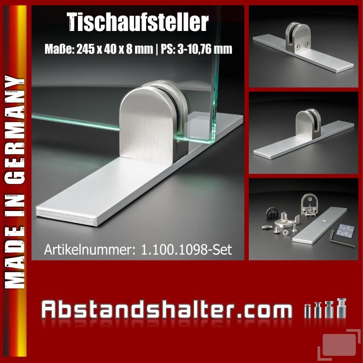 Tischaufsteller Fuß Spuckschutz Plexiglas Glas Platten PS: 3-10,76mm Schreibtisch Gastronomie