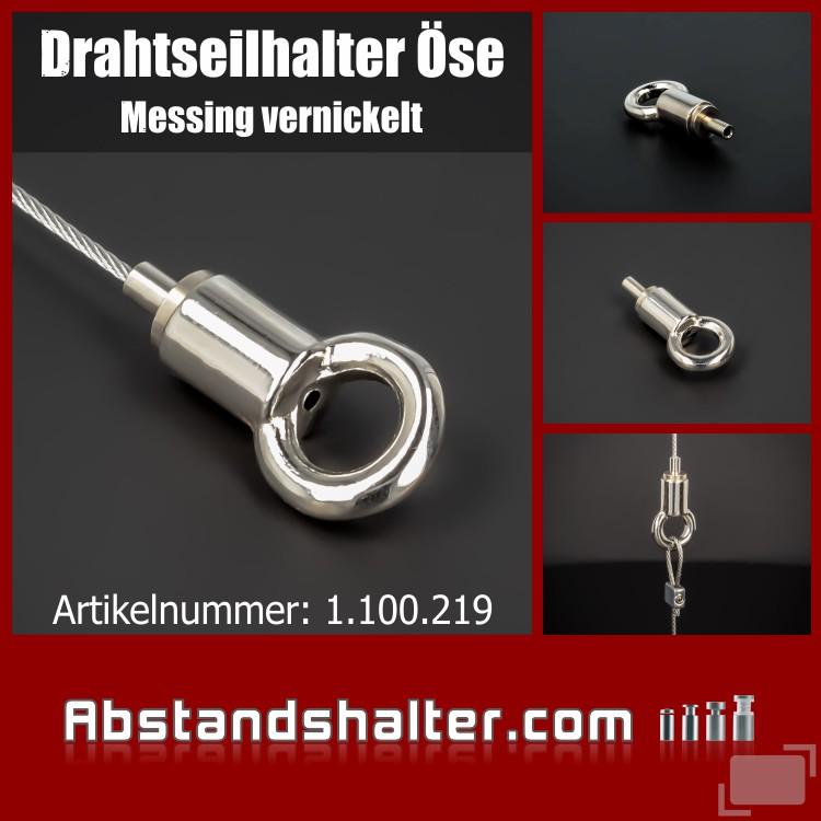 Drahtseilhalter Cable Blocker Deckenabhänger Seilspanner mit Öse