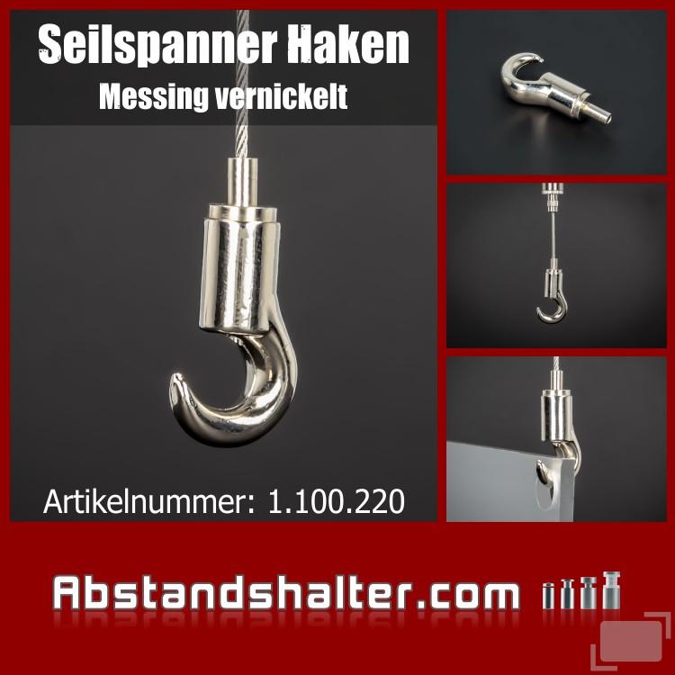 Cable Blocker | Deckenabhänger Seilspanner Haken vernickelt Ø 17 mm