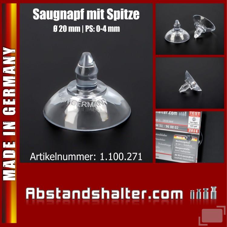 Saugnapf mit Pfeil-Spitze 20 mm | mit Saugnäpfen Schilder befestigen