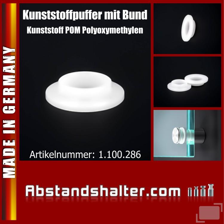 Kunststoff-Puffer für Glas mit Bund Ø14,5mm I-Ø:8,1mm PB: 10mm BH:2mm