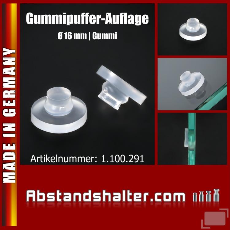 Lieferumfang: Gummi-Noppen für Glasplatten | Glas-Tische | Gummi-Puffer | Glasplattenauflage