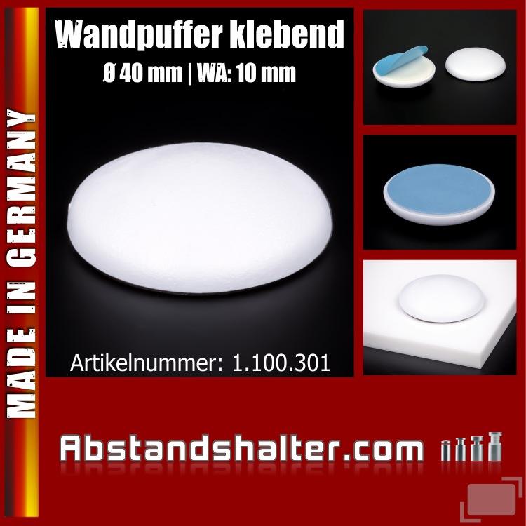 Wand-Tür-Puffer Ø 40 mm WA 10 mm Stopper | klebend | Gummi | WC Deckel