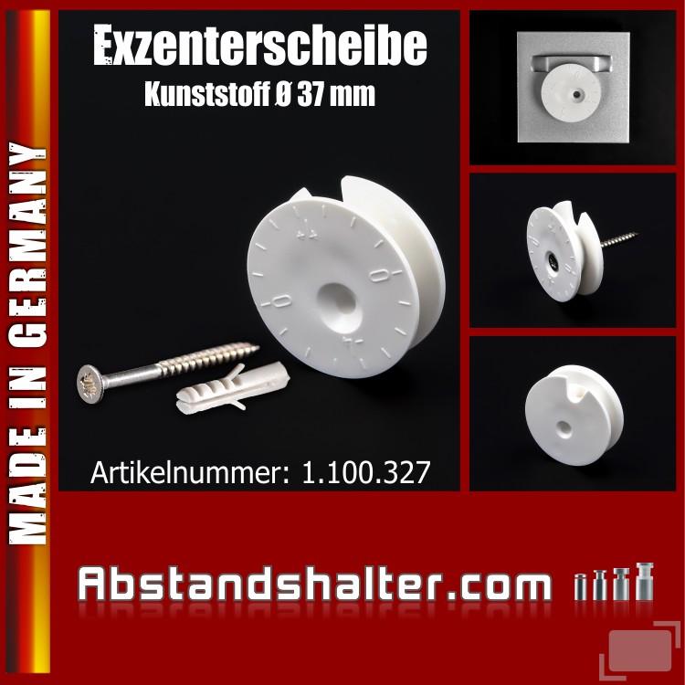 Exzenterscheibe Kunststoff Ø 37 mm WA 12 mm | Bilder Haken Befestigung