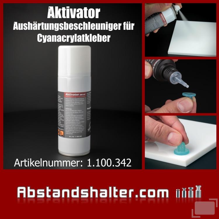 Lieferumfang: Aktivator 200 ml | Aushärtungsbeschleuniger für Cyanacrylat-Kleber