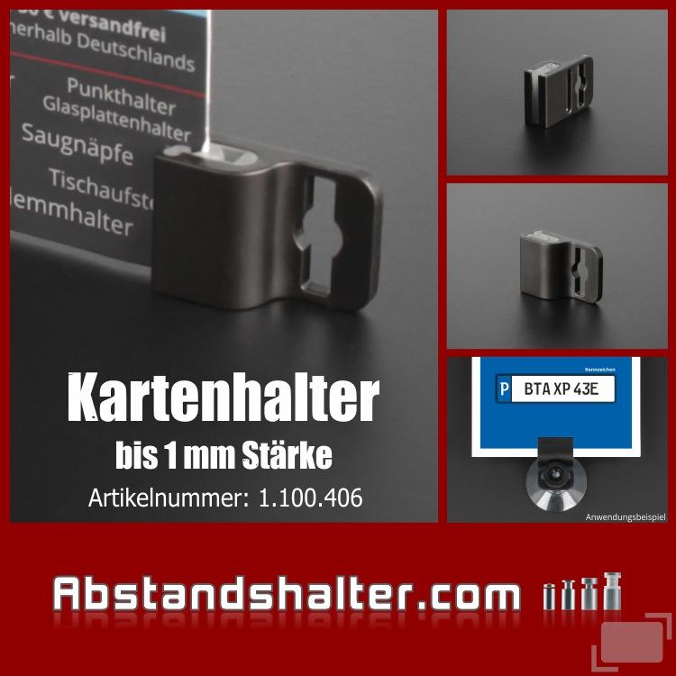Kartenhalter - Ausweishalter - Kunststoff - Plastik - Saugnapf - Band