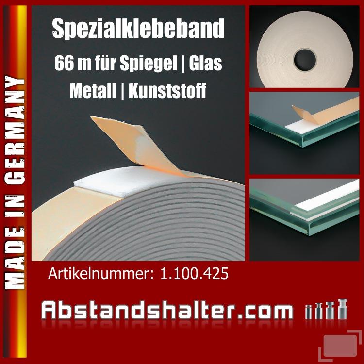 Schaumspezialklebeband 19mm für Metall Plexiglas Kunststoff Glas | 66m