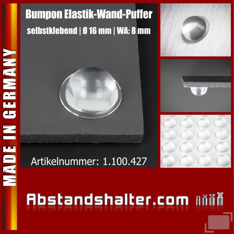 Bumpon Elastikpuffer selbstklebend Ø 16 mm für Möbel | Brettchen | Glasplatten