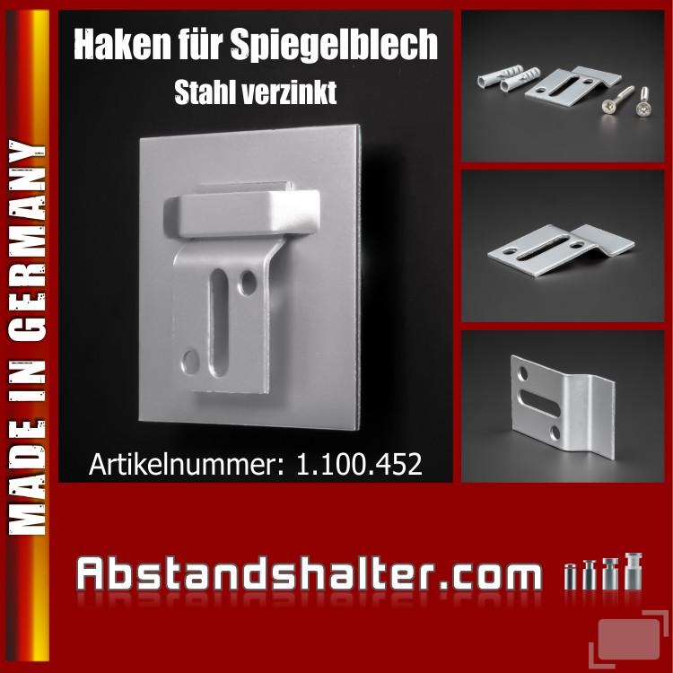 Wandhalter Z-Haken Aufhängung Haftbleche mit Lasche | Stahl verzinkt