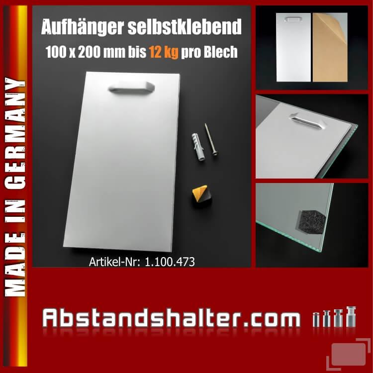 Aufhänger klebend schwere Bilder Spiegel Schilder 100x200mm bis 12 kg