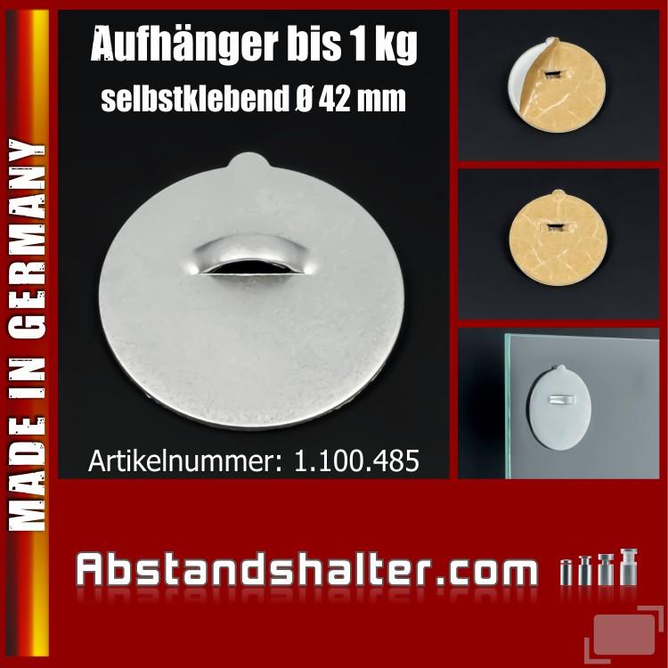 Aufhänger klebend | Teller | Spiegel | Schilder | Bilder bis 1 kg | Ø 42 mm