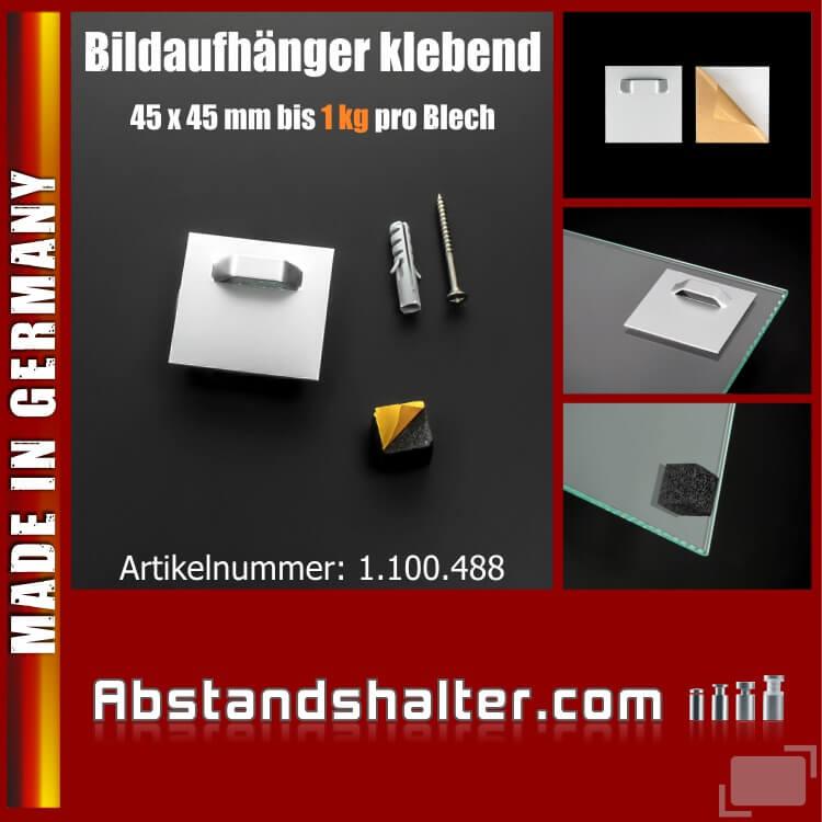 Bildaufhänger 45x45mm klebend Spiegel Schilder+Puffer schwarz 1 kg
