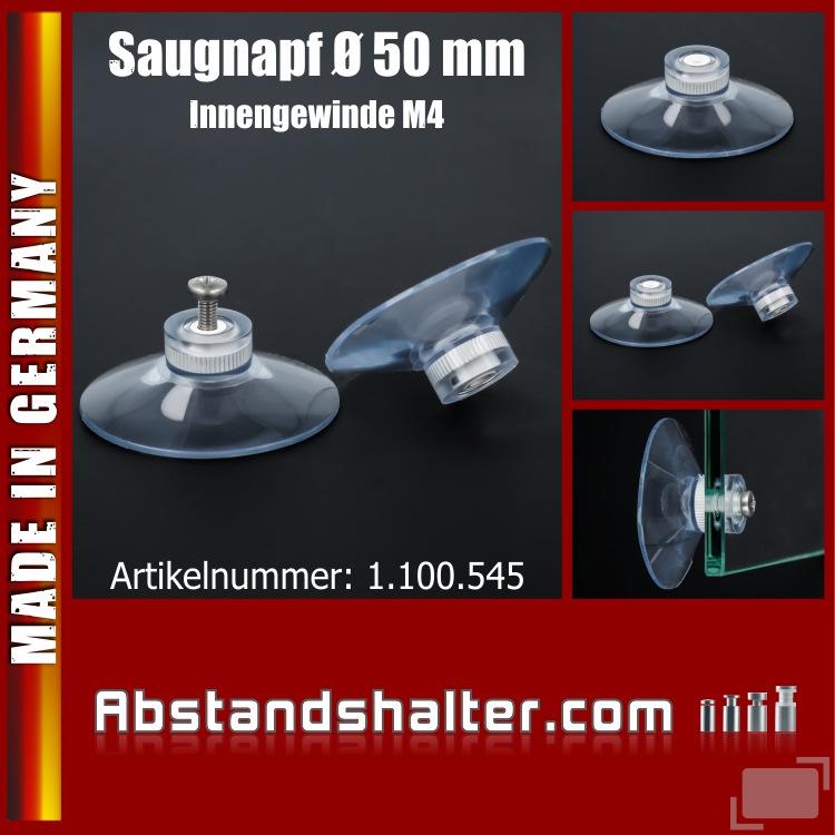 Saugnäpfe Ø 50 mm Saugnapf mit Innengewinde M4 | Sauger