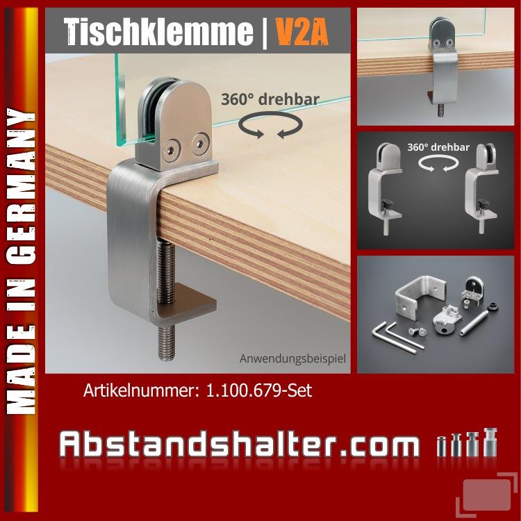 Tischklemme Edelstahl 10-53mm Spuckschutz Abtrennung Platten 3-10,76mm Tischklemmhalter Tischklemmenhalterung Bistrotische Schreibtische
