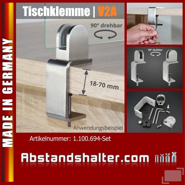 Spuckschutz Tischklemme dicke Tischplatten K:18-70mm+Halter 3-10,76mm | Schreibtische | Tresen