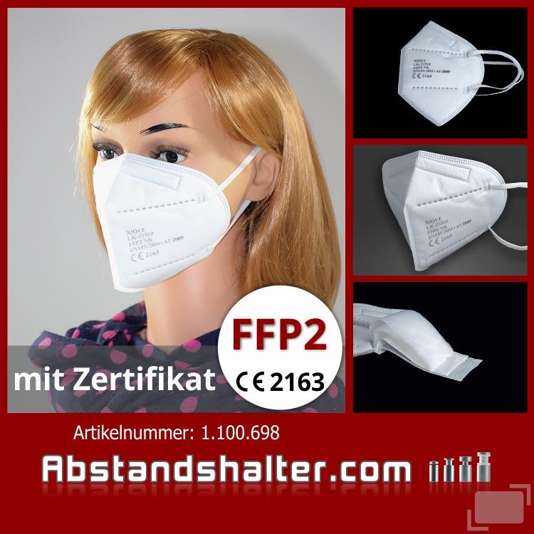 Spuckschutz FFP2 Maske Atemschutzmasken CE Prüfstelle 2163 Zertifiziert 4-lagig Mundschutzmaske