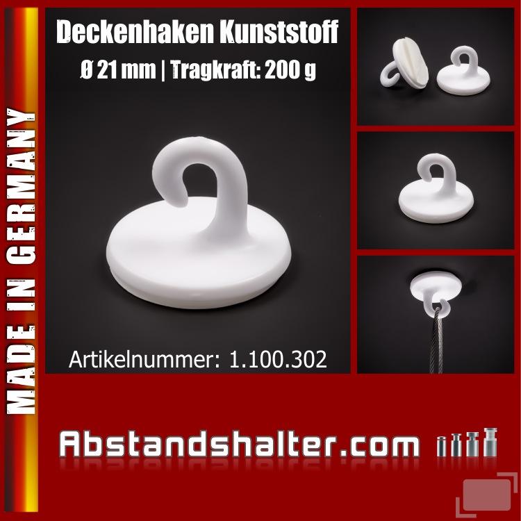 Haken selbstklebend 21 mm | Kunststoff | Haken | Dekohaken bis 200 g