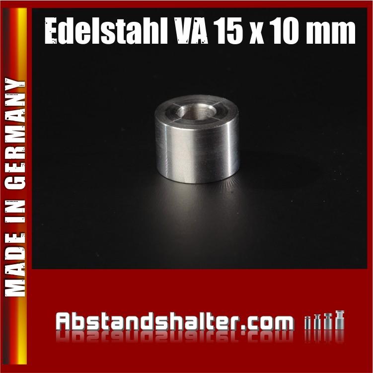 Distanz-Ring aus Edelstahl Ø 15 mm WA: 10 mm