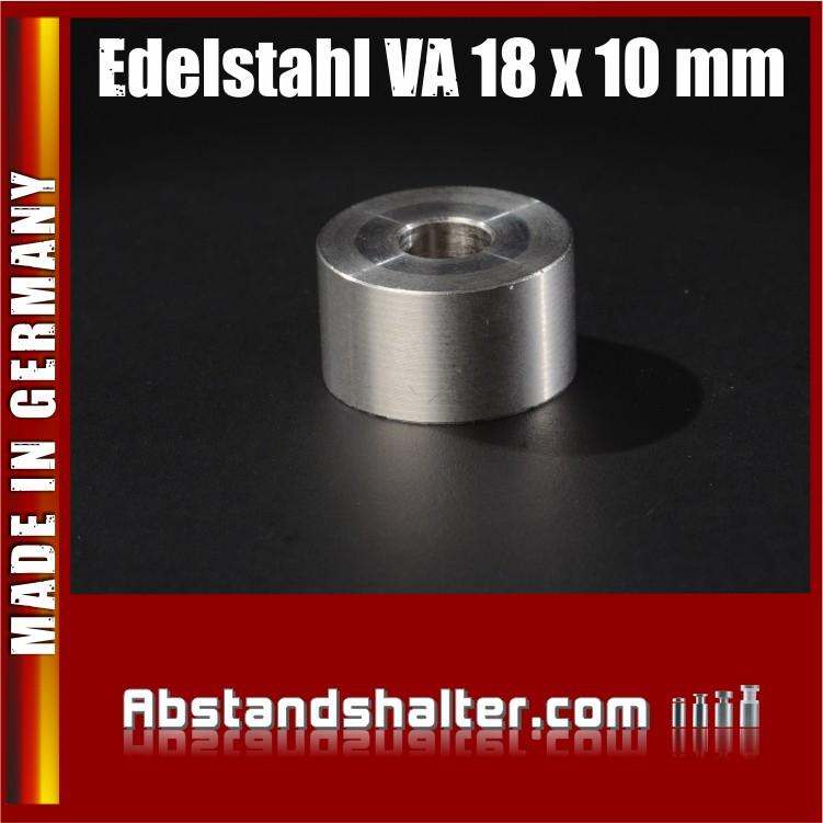 Distanz-Ring aus Edelstahl Ø 18 mm WA: 10 mm