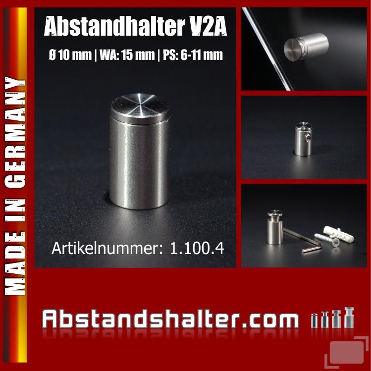 Edelstahlhalter für Schilder Ø 10 mm