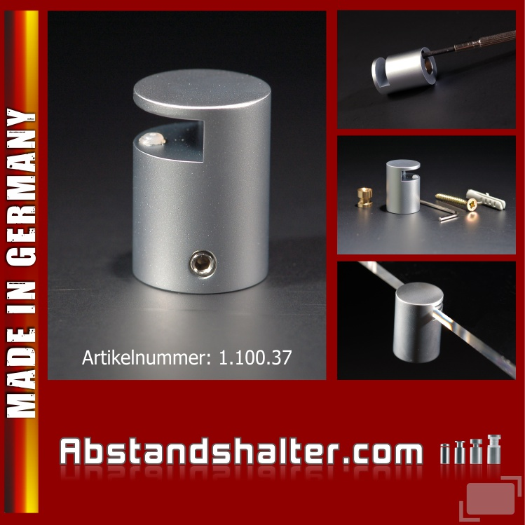 Spiegelhalter Messing matt verchromt Ø: 20 mm Länge: 28 mm WA: 20 mm