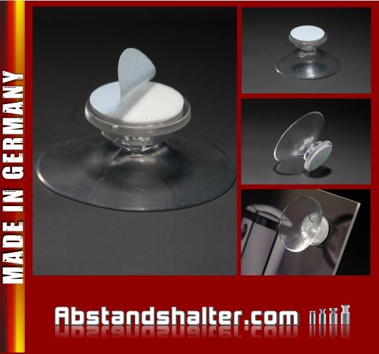 Saugnapf Ø 40 mm ohne Gewinde selbstklebend |mit Klebefläche