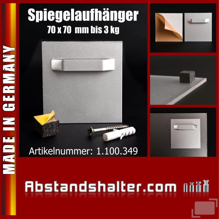 Spiegel-Aufhänger mit Abstandhalter bis 3 kg | selbst-klebend 70x70 mm
