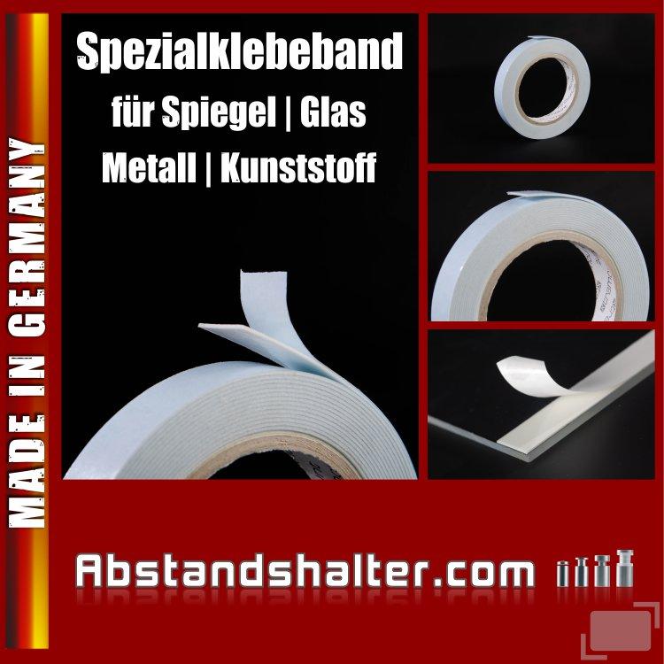 Spezial-Klebeband 15 mm für Metall | Spiegel | Kunststoff | Glas | 5 m