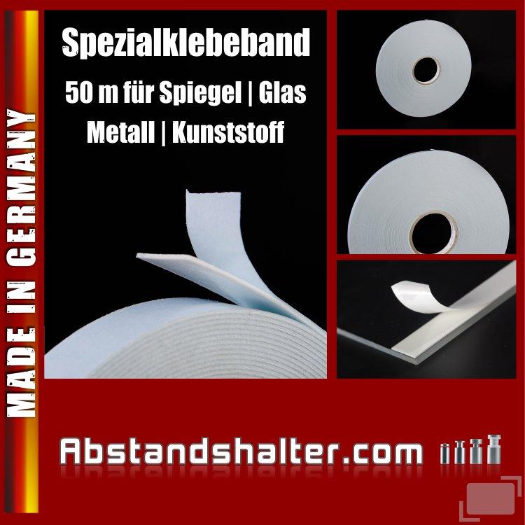 Klebeband beidseitig 25 mm für Metall Spiegel Kunststoff Glas | 50 m