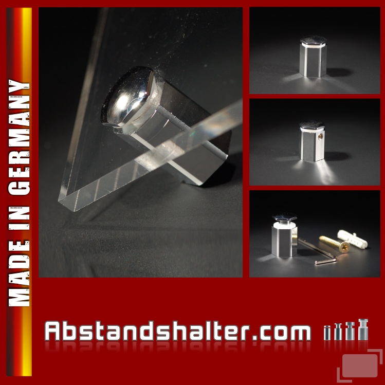 Wandabstandshalter Chrom Ø 15 mm WA 18,5 mm PS 1-10 mm