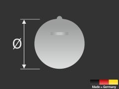Aufhänger klebend | Spiegel | Schilder | Bilder bis 1 kg | Ø 42 mm
