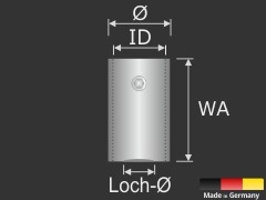 Buchstabenbefestigung + Gewinde Edelstahl Ø13mm WA:40mm Logomontage V2A