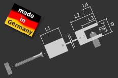 Plattenklemme-Verbinder Messing Ø 14 mm PS: 1-6 mm | Edelstahlfinish