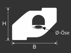 Deckenclip Ösen-Haken für Rasterdecken bis 24 mm | Odenwalddecken