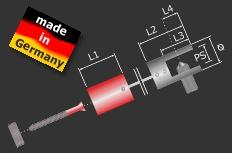 Deckenhalter für Seil Messing poliert Ø 14 mm Länge: 20 mm | Chrom