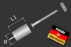 Lieferumfang: Deckenhalter Ø18 mm L: 30 mm für Seil 1,5mm Automatik | Edelstahl V2A