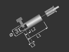 Platten Display-Halter Ø12mm L:38mm PS:1-6mm Seil Ø1,2-1,5mm Automatik