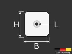 Druckknopf zur Diebstahlsicherung von Schildern | Spiegeln | Bildern | Dibond | Kömacel