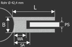Edelstahl-Halter für Glas 45 x 45 mm PS: 1,5-10,76 mm | Glas | Metall | Dibond | Kunststoff | Holz