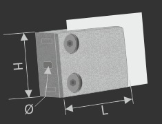 Glashalter mit Sicherung Edelstahl V2A Balkon oder Geländerbau