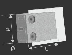 Glashalterungen | Glasscheibenhalter Edelstahl