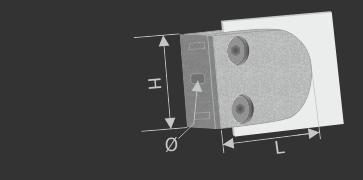 Glasklemme Edelstahl V2A für Glasplatten bei Balkon oder Geländerbau